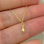 Pingente de Figa em Ouro 18K Tamanho Mini