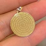 Pingente Medalha Oração do Pai Nosso em Ouro 18K