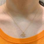 Pingente de Letra M de Ouro 18K Feminino