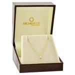 Gargantilha de Ouro 18K Ponto de Luz com Diamante