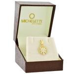 Pingente Cruz São Bento em Ouro 18K Tamanho Pequeno 1cm