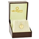 Pingente de Ouro 18K Coração com Letra Personalizado