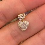 Pingente de Coração com Zirconias Ouro 18K