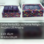 KITS DE CARTONAGEM PARA CAIXA PORTA BIJU/RELÓGIO - 10 KITS