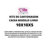 KITS DE CARTONAGEM PARA CAIXA LIVRO TAMANHO 10X10X5 - 5 KITS