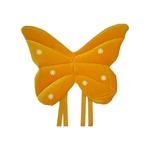 Asa borboleta veludo Amarelo