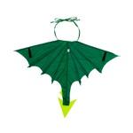 asa dragão verde escuro e claro
