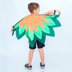 asa pássaro verde e laranja