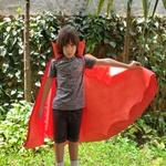 Capa vampiro Laranja e vermelho