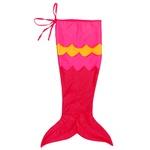 Cauda sereia rosa, pink e amarelo
