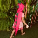 Cauda dino Rosa e verde