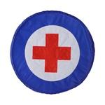 Escudo doutor Azul e vermelho