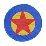 Escudo estrela azul e amarelo