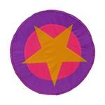 Escudo estrela rosa e roxo