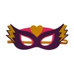 Máscara herói coração Roxo e rosa