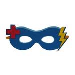Máscara herói doutor Azul e vermelho