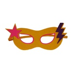 Máscara herói estrela Amarelo e rosa