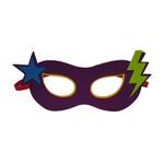 Máscara herói estrela Roxo e azul