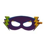 Máscara herói raio Roxo e verde