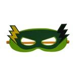 Máscara herói raio Verde