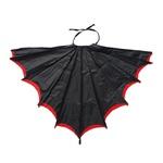 asa morcego preto e vermelho