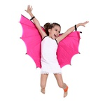 asa morcego preto e rosa