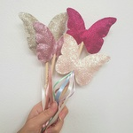 Varinha borboleta rosa