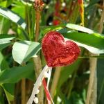 Varinha paetê love vermelho