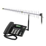 KIT TELEFONE FIXO SINGLE CHIP 3G + ANTENA FULL BAND