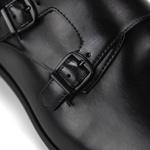 Sapato Monk Strap Masculino Preto John II
