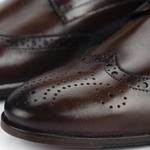 Sapato Derby Semi Brogue Masculino Brown Cabral
