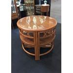 Mesa Ninho Com 4 Cadeiras Em Madeira Maciça Com Detalhes Em Marchetaria
