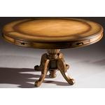 Conjunto Mesa de Jogos (1,40m) + 6 Cadeiras Com Braço - Linha Luxo