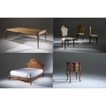 Conjunto AVI - Mesa De Jantar Hillux (2,00m) + 6 Cadeiras Luxo + Mesa Decorativa Inspiração + Cama Queen (1,60m) Luxo