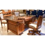 Home Office - Escrivaninha + Cadeira P/ Escritório Victory Em Madeira Maciça