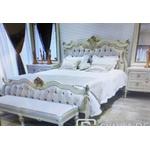 Conjunto Cama King 2,00m + 2 criados Provençal 100% Madeira