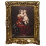 Quadro Clássico - La Virgen Del Rosario By Bartolomé Esteban Murillo