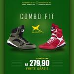 Combo Fit - 2 pares Bota Fitness Treino - 007 Verde / MG Vermelha