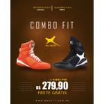 Combo Fit - 2 pares Bota Fitness Treino - Laranja / Preto