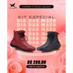 Kit Especial Dia das Mães - 2 Botas Casuais - Preta/Bordo