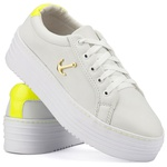 Tênis Plataforma Mr. Gutt Feminino Branco com Amarelo