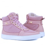 Bota Sneaker Casual Mr Gutt em Couro Legítimo Rosê