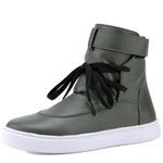 Bota Sneaker Casual Mr Gutt em Couro Legítimo Verde