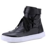 Bota Sneaker Casual Mr Gutt em Couro Legítimo Preto