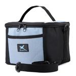 Bolsa Térmica Fitness Marmita - Preto e Azul Claro