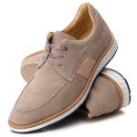 9005 Loafer Elite Couro Premium Camurça Bege