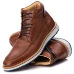 9007 Loafer Elite Couro Premium Comfort Castor
