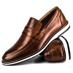 Brogue Premium Couro Comfort Castor Andora 8001