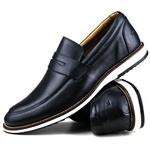 Brogue Premium Couro Comfort Marinho Andora 8001
