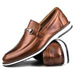 Brogue Premium Couro Comfort Castor Andora 8006